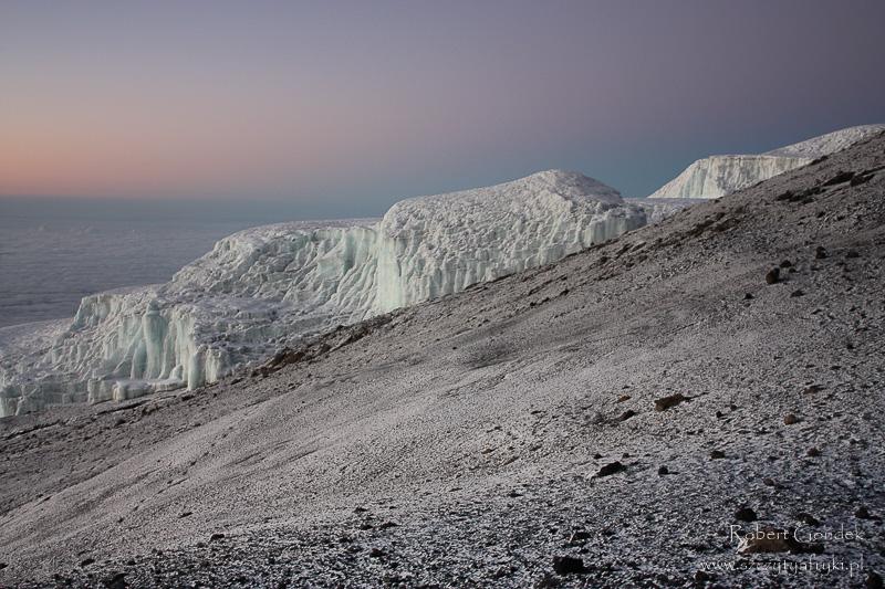 Kilimandżaro - lodowiec