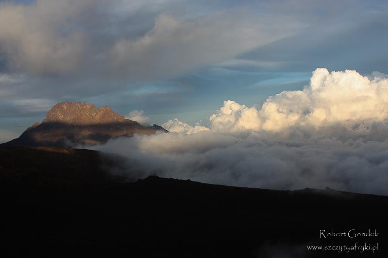 Kilimandżaro - zachód słońca