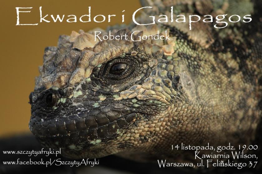 Pokaz zdjęć z Ekwadoru i Galapagos - zaproszenie