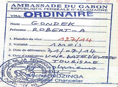 Wiza do Gabonu