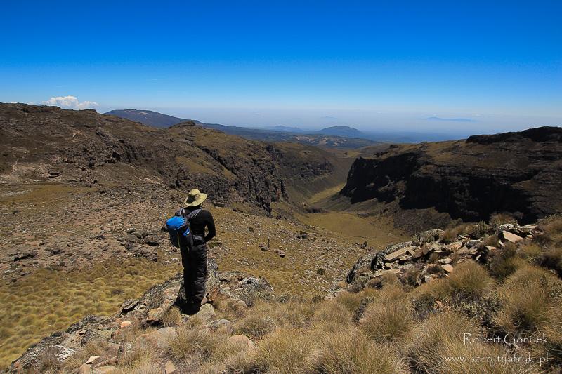 Podczas trekkingu na Mount Kenya