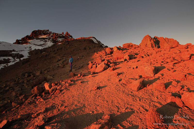 Wschód słońca na Mount Kenya