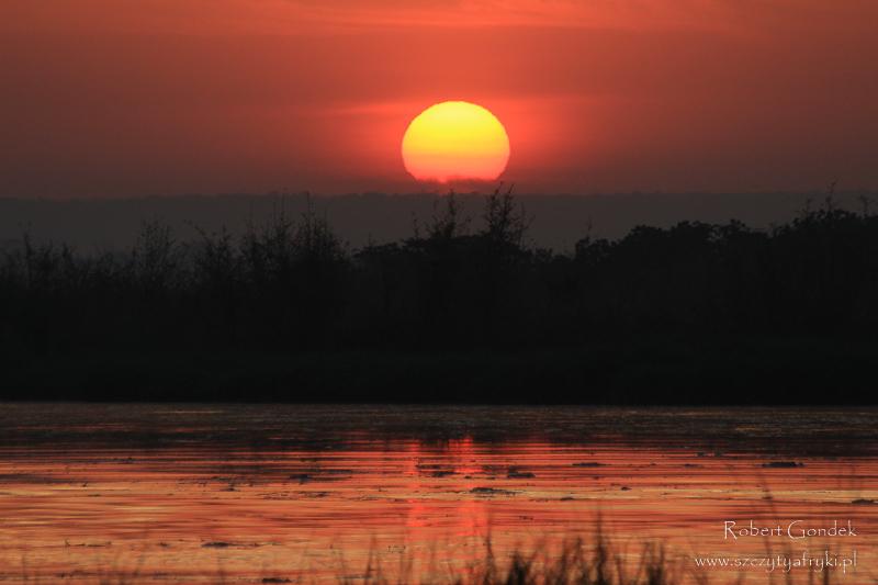 Wschód słońca w pobliżu Wodospadów Murchisona