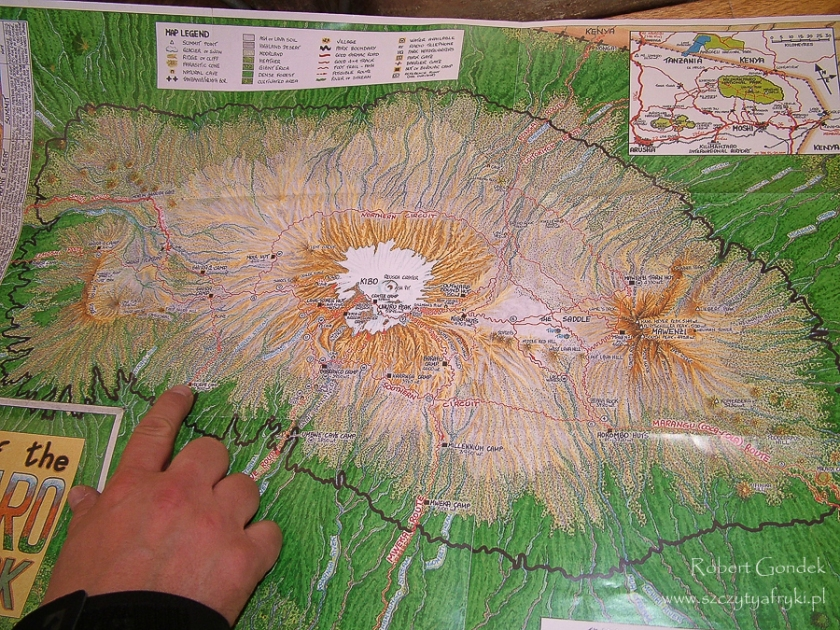 Mapa Kilimandżaro