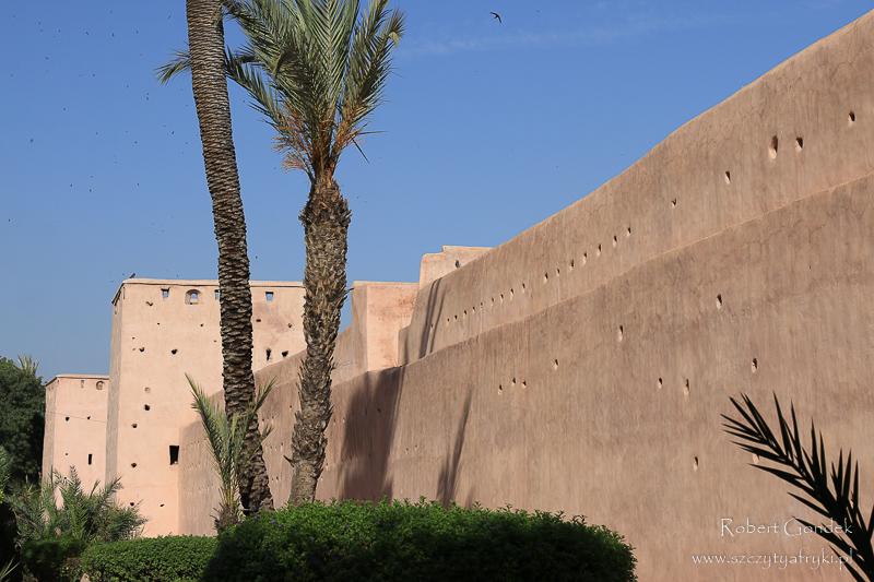 Maroko - Mury Medyny w Marrakeszu