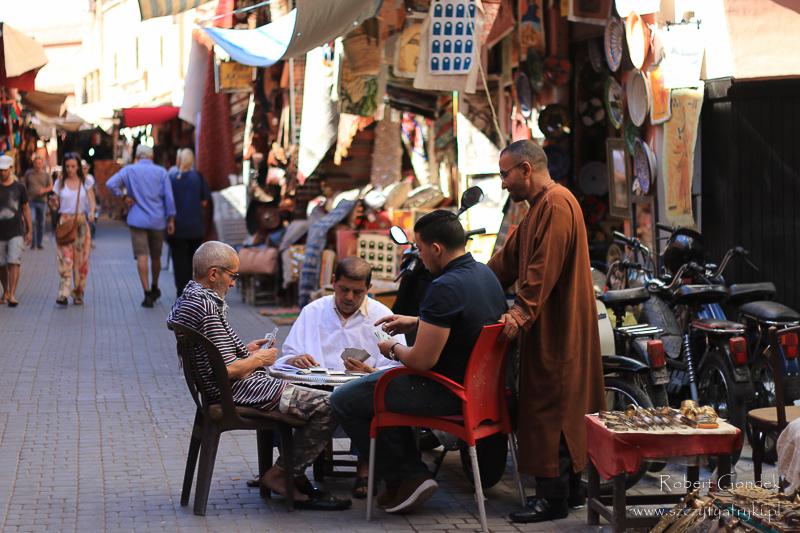Maroko - Na ulicach Medyny w Marrakeszu