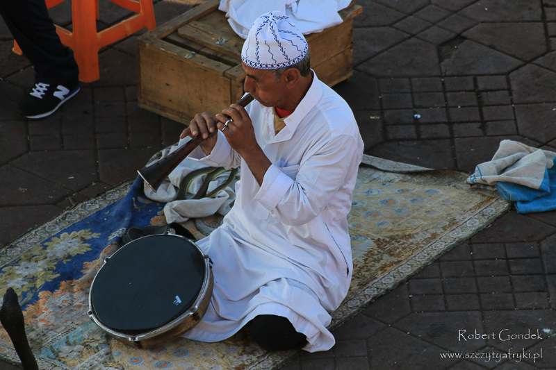 Maroko - Zaklinacze węży w Marrakeszu