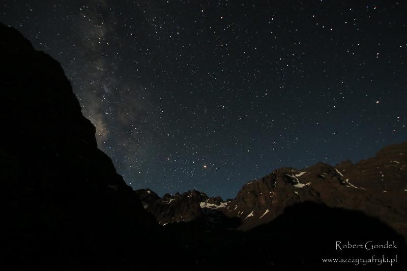 Maroko - Góry Atlas nocą
