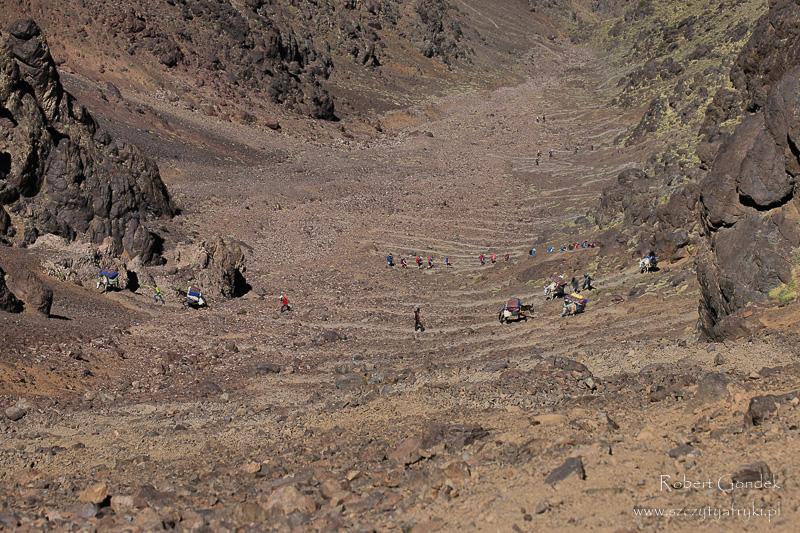 Maroko - Podejście w górach Atlas
