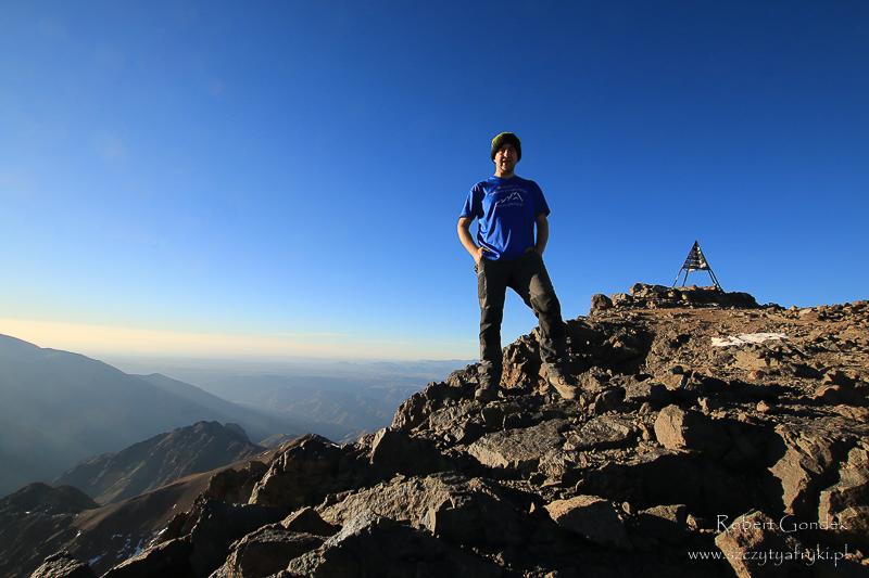 Maroko - Robert Gondek na Jebel Toubkal