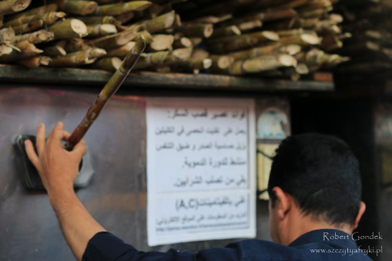 Maroko - Sok z trzciny cukrowej