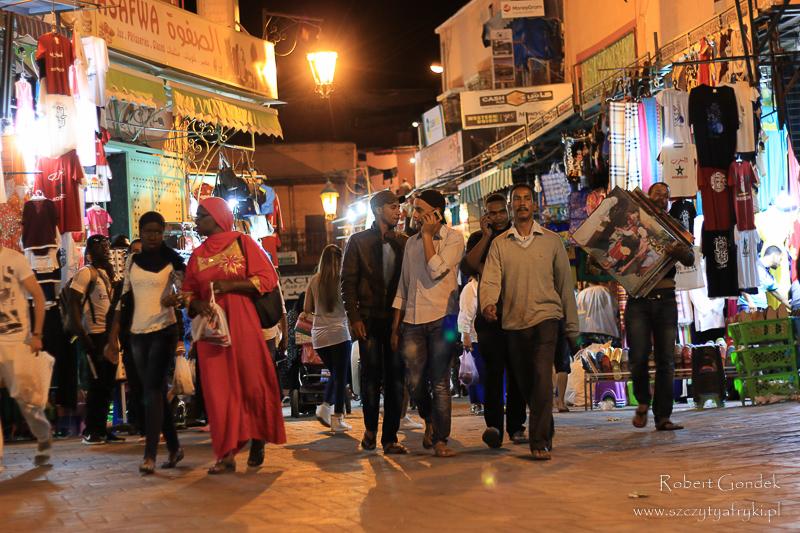 Maroko - Uliczki Marrakeszu