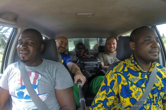 Zespół organizujący trekking na Mount Cameroon