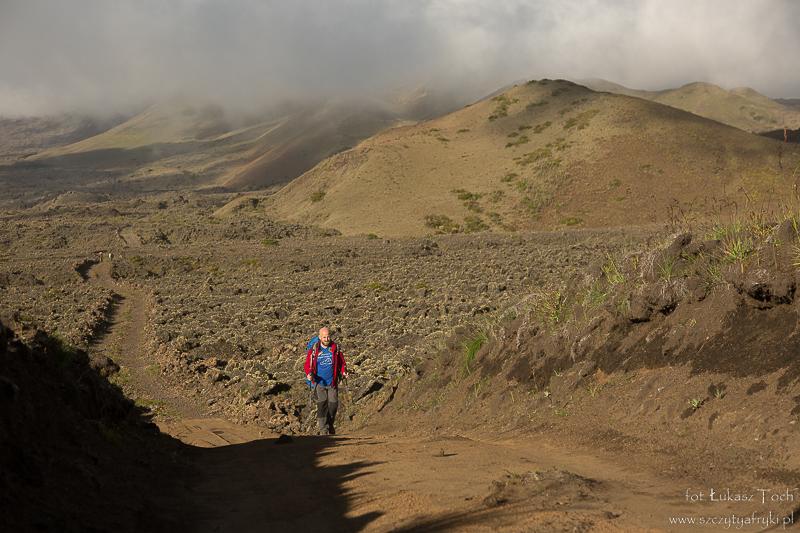 Podczas trekkingu – po zejściu z Mount Cameroon