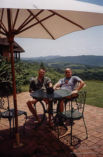 Ja i Piotrek w Afryce