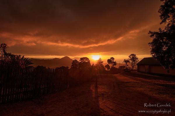 Nyanga National Park - zachód słońca