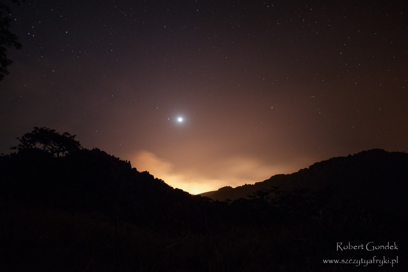 Wypalanie traw w Parku Narodowym Chimanimani