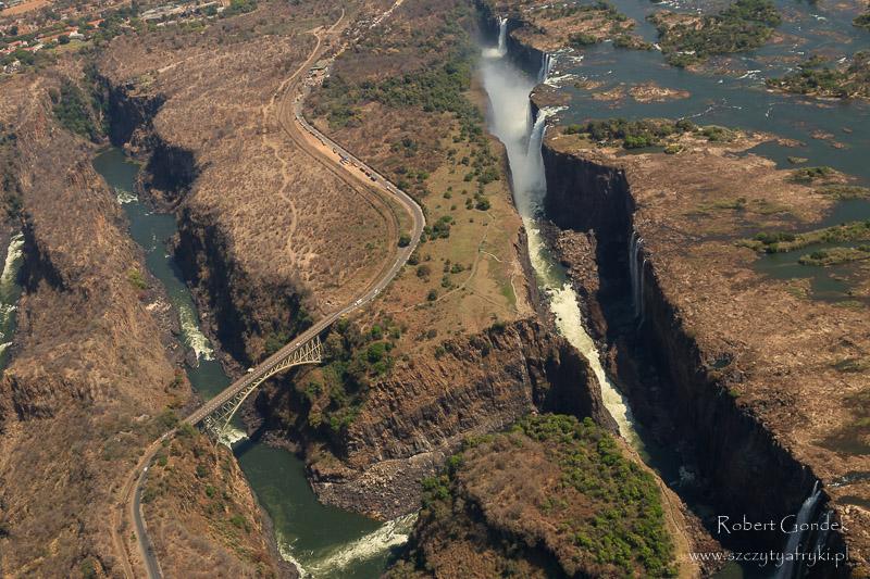Wodospady Wiktorii - widok z góry