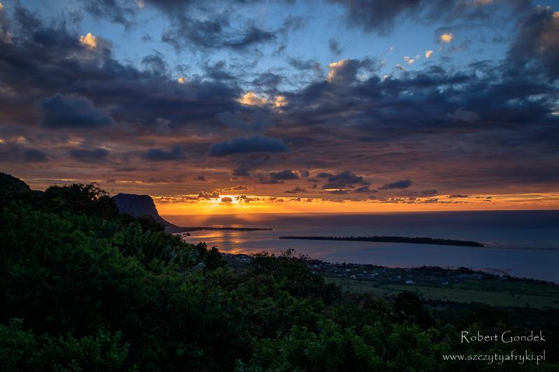 Zachód słońca na Mauritiusie