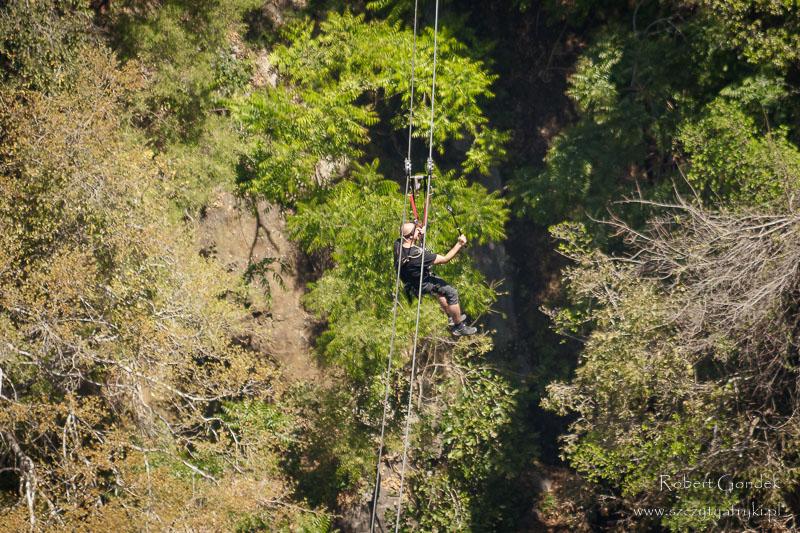 Zip line w Victoria Falls